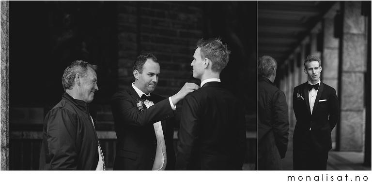 Bryllupsfotografering Oslo Rådhus, Akershus festning og Ling Ling på Aker brygge