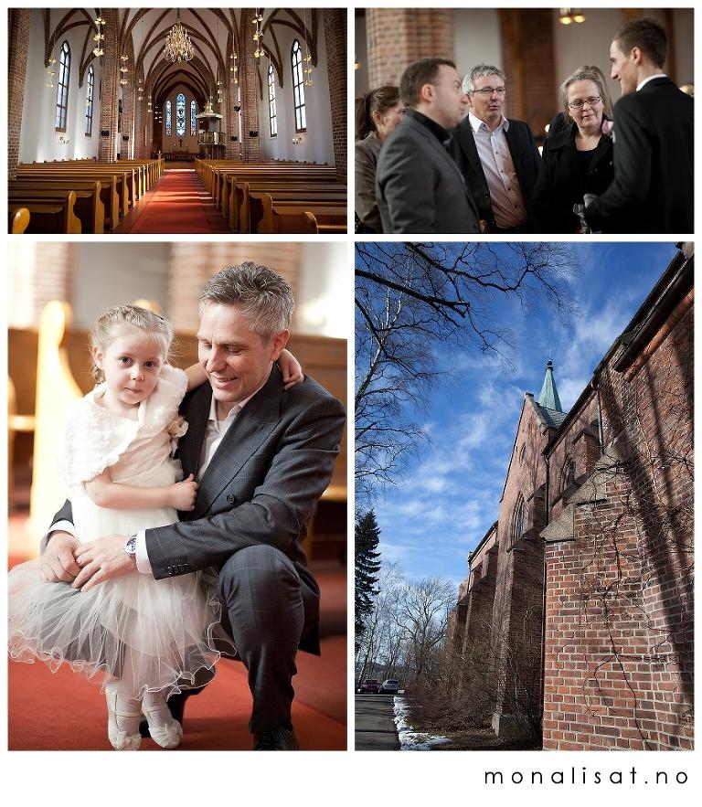 Bryllupsfotografering Vestre Aker kirke