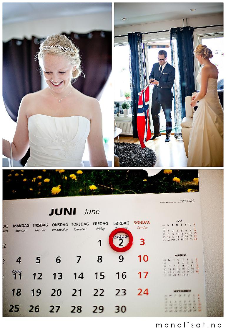 Bryllupsfotografering, forberedelser Lillestrøm