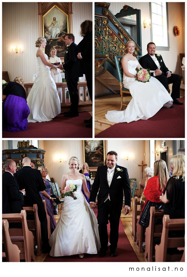 Bryllupsbilder fra Rælingen kirke