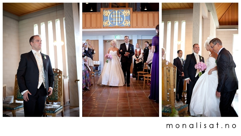 Bryllupsfotografering Brevik kirke i Porsgrunn