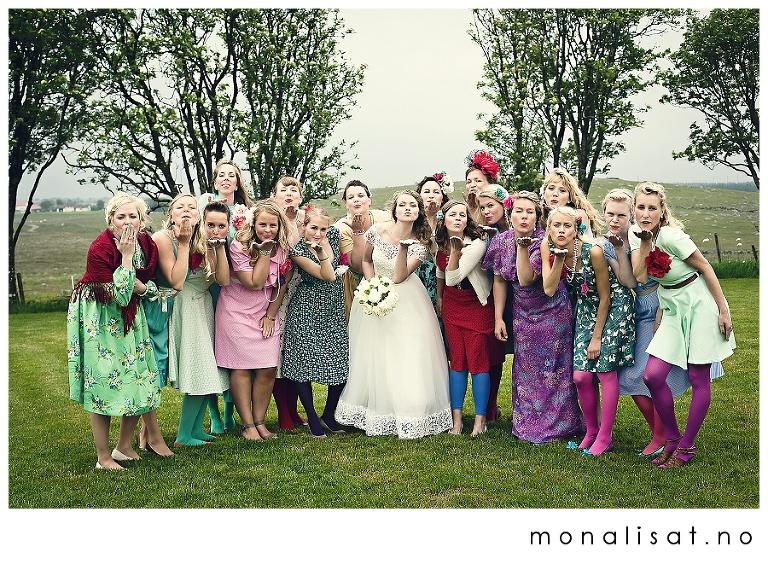 Bryllupsfotografering 50-talls temabryllup