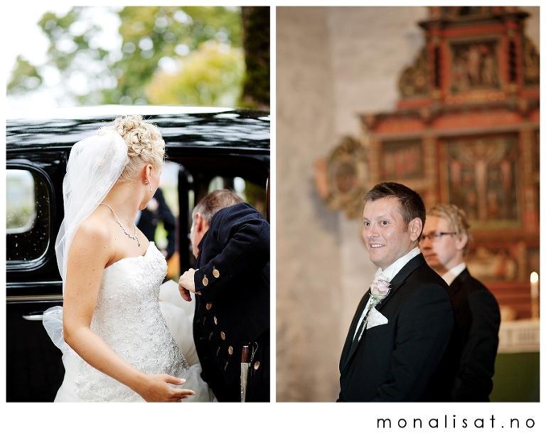 Bryllupsfotografering Skedsmo kirke