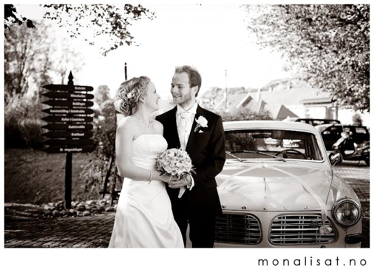 Bryllupsfotografering leiren i Larvik