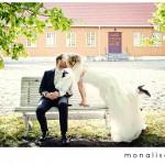 Bryllupsfotografering portretter: Kine & Lars Gunnar