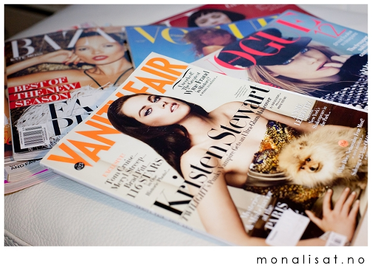 Moteblader, Vogue, Vanity Fair etc