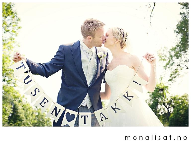 Bryllupsfotograf Mona-Lisa T.  Tusen takk banner